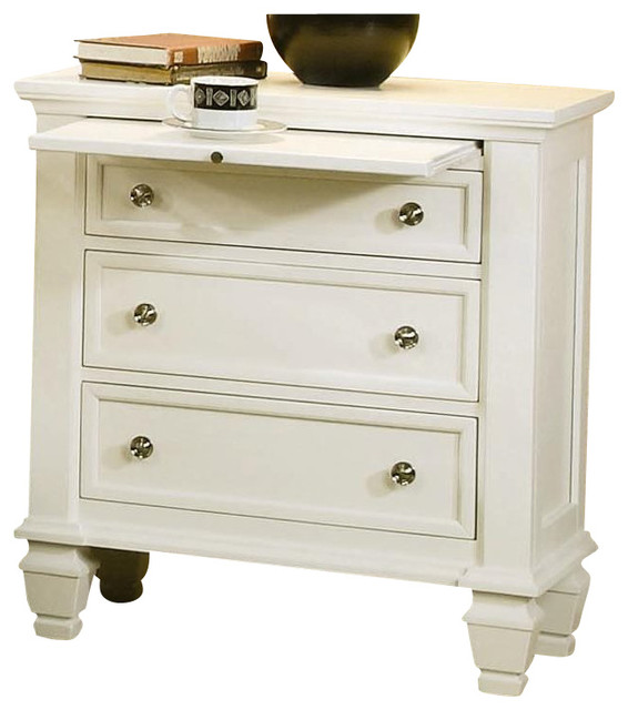 Coaster miri nightstand white traditional nightstands for White wood nightstand