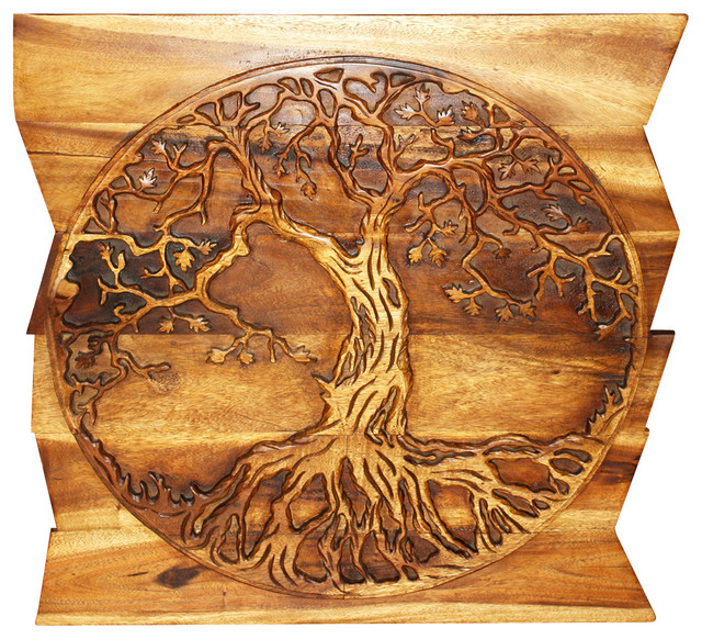 Haussmann Tree Of Life On Uneven Boards 36 X36 Livos Walnut Oil Finish