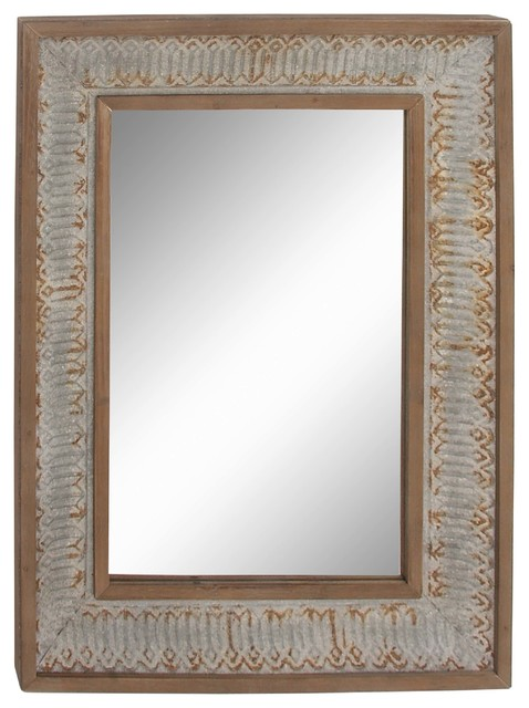 """Gwg Outlet Wooden Metal Wall Mirror, 29""""x39""""."""