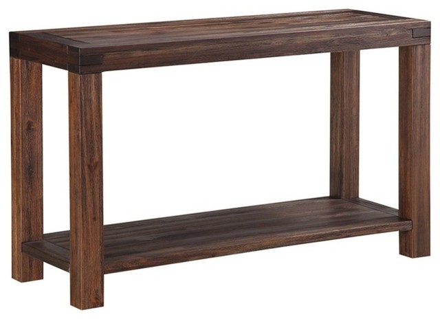 Modus Meadow Console Table Brick Brown