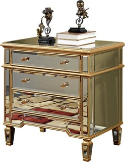 Florentine Gold 3-Drawer Chest of Drawers