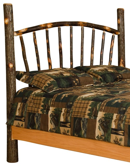 Rustic Hickory Sunburst Queen Size Headboard Only Rustic