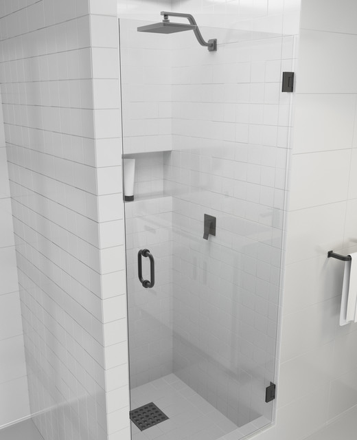 78 X28 Frameless Hinged Shower Door Door Only Style Contemporary Shower Doors By Glass Warehouse