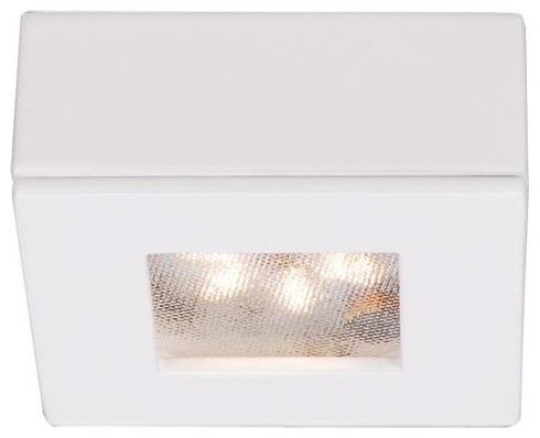 WAC Lighting HR-LED87S-BK LED Square Button Lights 3000K ,Black - Contemporary - Undercabinet ...