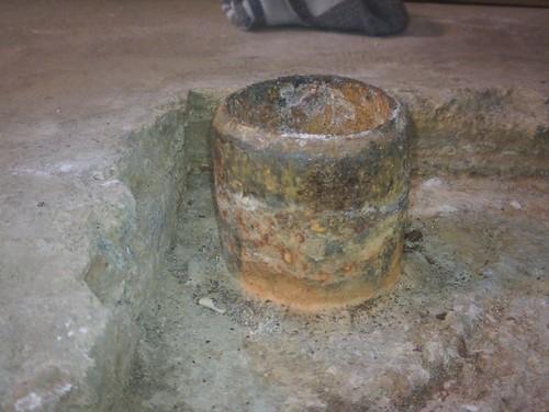 Cast iron pipe drain ideas for Basement concrete cleaner