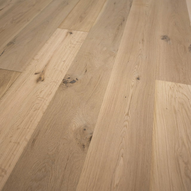 French Oak Unfinished Engineered Wood Floor Se Wide Plank Sample Traditional Engineered Wood Flooring By Hurst Hardwoods