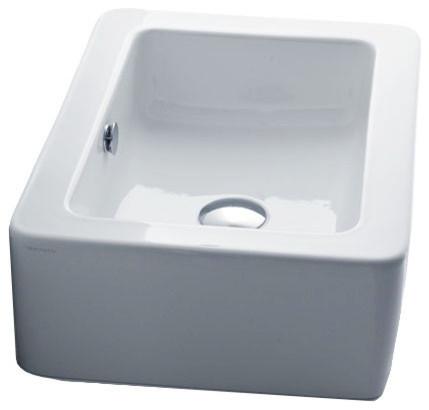 """Ceramic Vessel Bathroom Sink, 15.7""""x15.0"""", Ego 3247."""