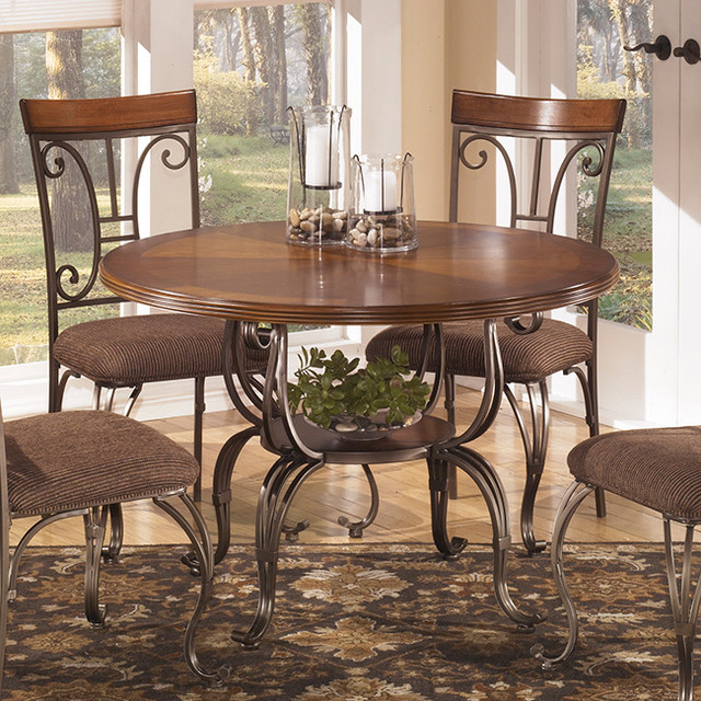 Signature Design By Ashley Plentywood Round Dining Table Contemporary Din