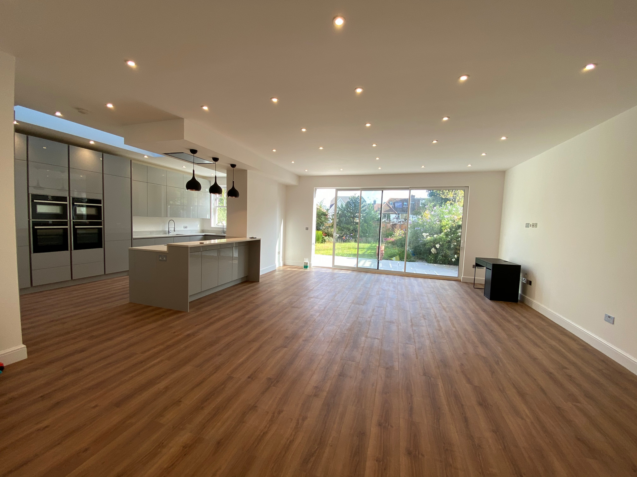Completed open-plan Kitchen/Living Room