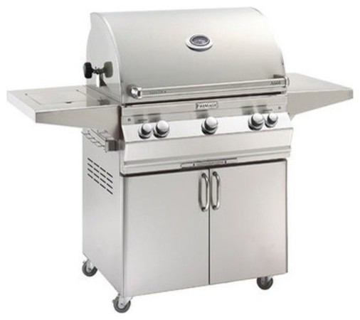 A660s-5ean-62 Analog Style Stand Alone Grill, Natural Gas.