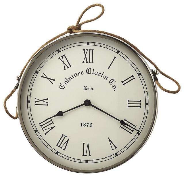 Butler Butler Rockport Nickel Finish Wall Clock