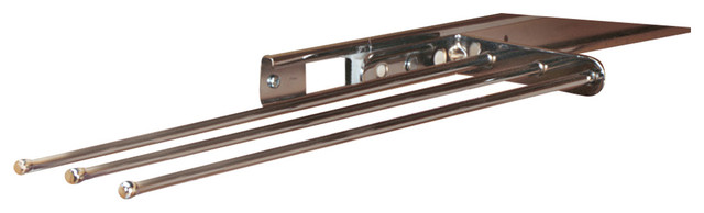 Three-Prong Pull-Out Towel Holder, Chrome.