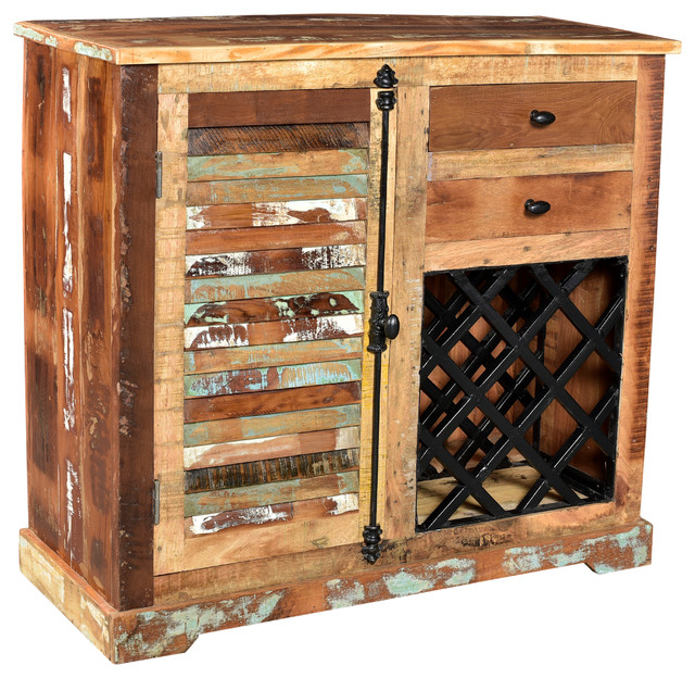 Almira Wine Latch Cabinet - Rustic - Accent Chests And Cabinets - by INDIAN ART PLACE DBA TRADE ...