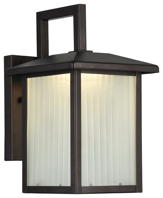 Chloe Lighting Ryston Transitional 1 Light Outdoor Wall Sconce, Bronze.