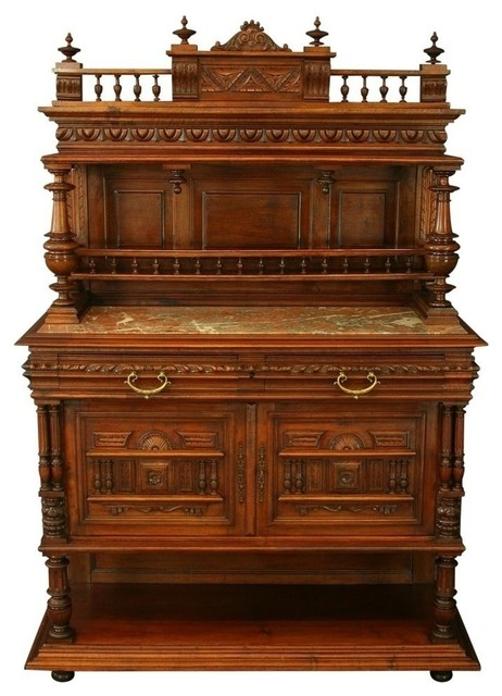 Consigned 1900 French Server/Sideboard Henry Ii, Antique - Traditional - Buffets And Sideboards ...