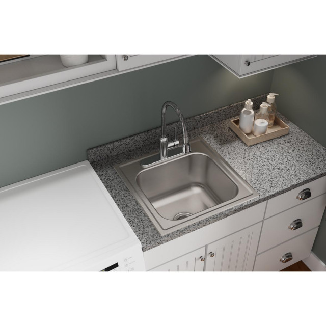 Dpc1202010 Dayton Stainless Steel 20 X 20 Drop In Laundry Sink Contemporary Utility Sinks By Sink Source