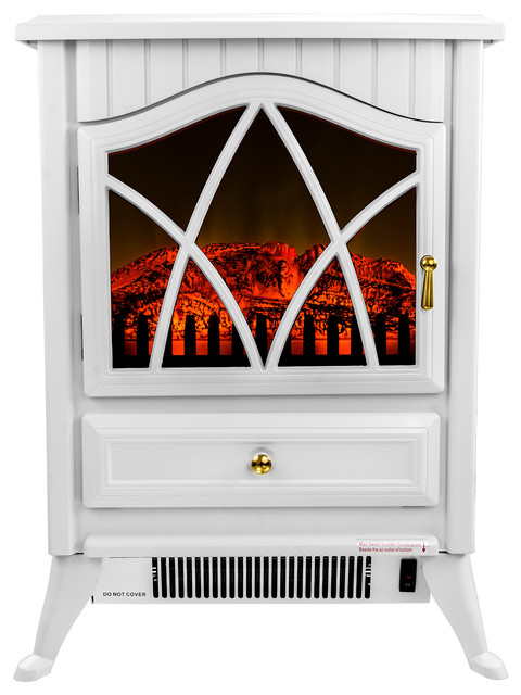 electric realistic flame white - Free Standing Electric Fireplace