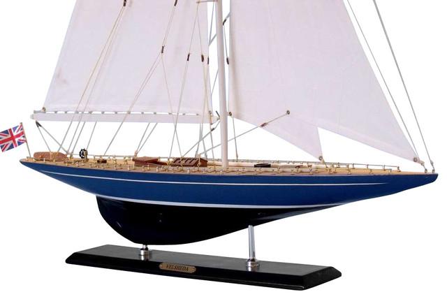 Wooden Velsheda Limited Model Sailboat Decoration 35