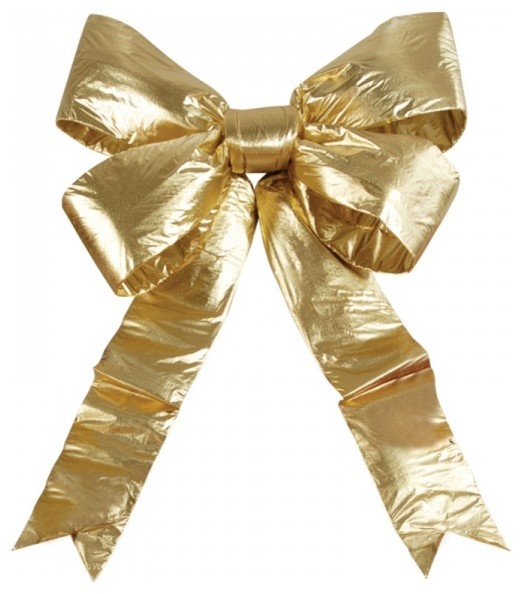 """Gold Bow, 18 """" Bow."""