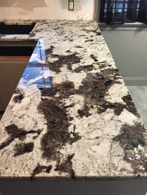 Brand New Quot Royal White Quot Granite Has Yellow Areas