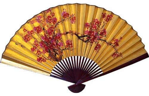Oriental Decor Brilliant Sakura Blossoms Asian Wall Fan Amp Reviews Houzz