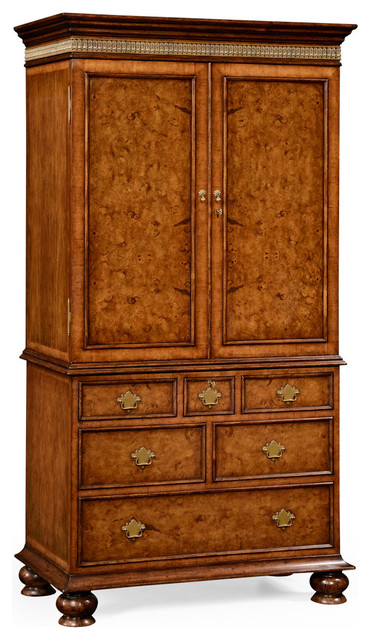 William And Mary Style Gentlemanu0027s Armoire  Traditional Armoires And Wardrobes