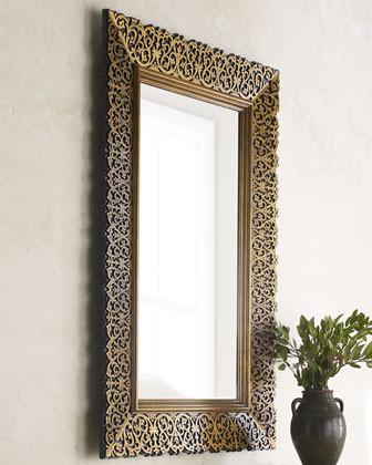 Maitland Smith Laser Cut Wood Frame Mirror Horchow
