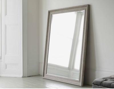 Large Mirrors: Vermont Oversized Mirror in Classic Vintage Grey
