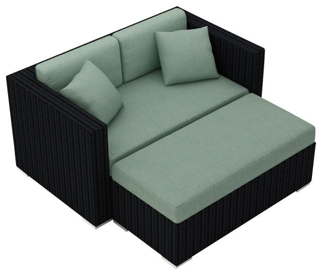 Urbana Day Lounger, Canvas Spa Cushions.