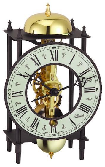 Bonn Skeleton Table Clock Black Traditional Desk And Mantel Clocks By Hermle North America