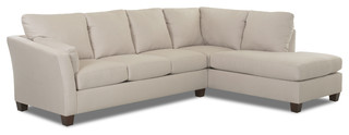 Sienna Chaise Sectional Sofa, Oyster