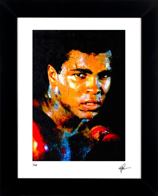"Muhammad Ali ""affirmation Realized"" Signed Fine Art Print By Artist Mark Lewis."