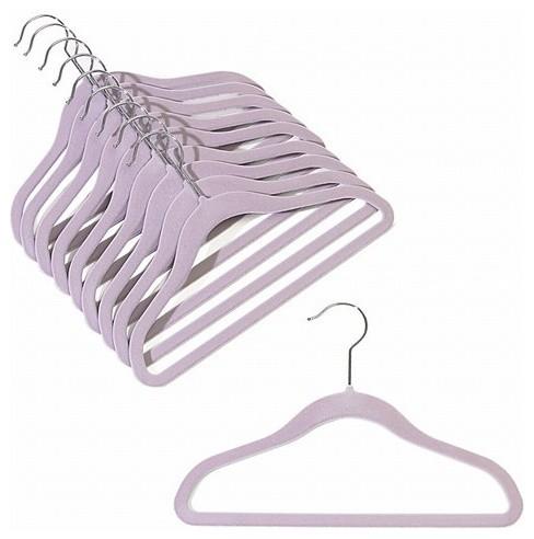 Children&x27;s Slim-Line Hanger, Lavender, Set Of 20