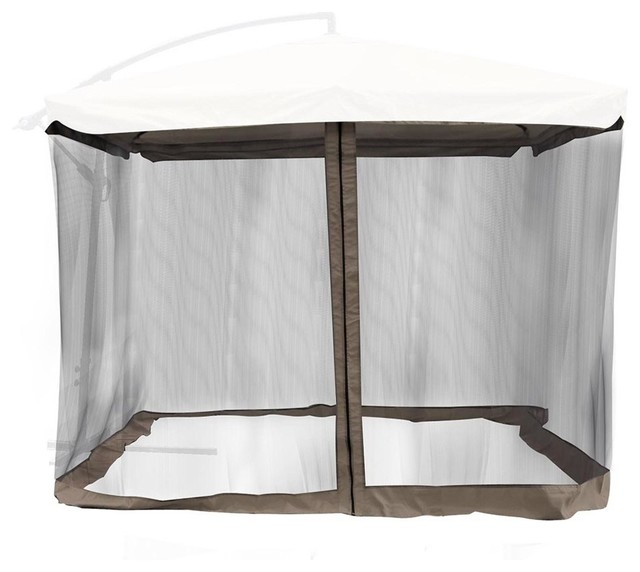 9u0027 Umbrella Mosquito Net Outdoor Mesh Screen Netting Coffee contemporary-canopies-tents  sc 1 st  Houzz & 9u0027 Umbrella Mosquito Net Outdoor Mesh Screen Netting ...