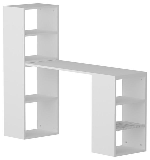 Belmar Computer Desk With Shelves