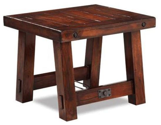 Rustic Mahogany End Table