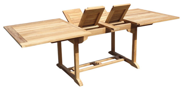 The St James Grade A Teak 108 Extension Table Seats 12 By Windsor Teak Transitional Outdoor Dining Tables By Windsor Teak Furniture