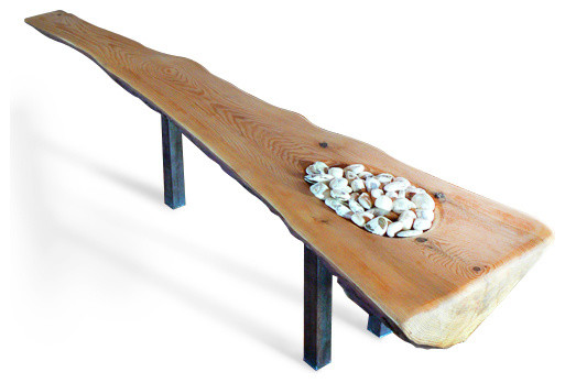 coffee table, hemlock and stones - rustic - coffee tables -