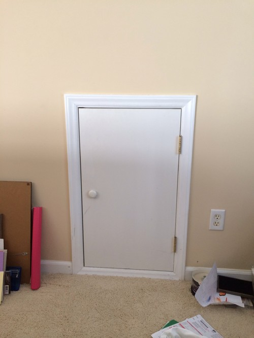 attic closet design ideas - Small attic door