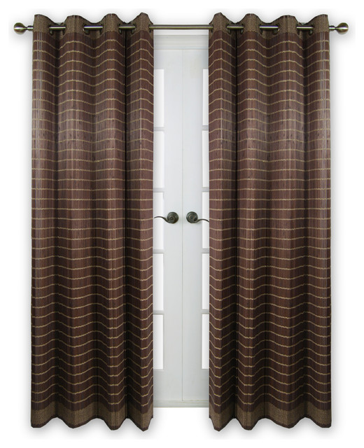 Bamboo Wood Curtain Panel With Grommets 48 X84 Transitional Curtains By Versailles Home Fashions Inc