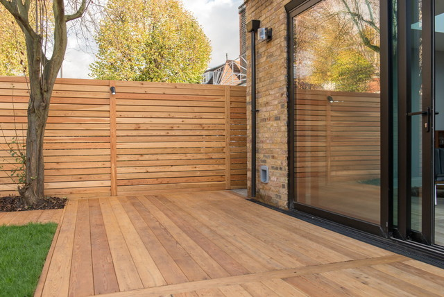 siberian larch decking and garden office cladding. Black Bedroom Furniture Sets. Home Design Ideas