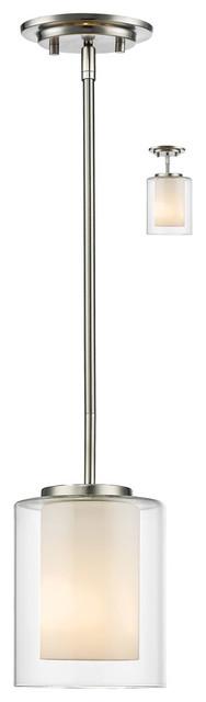 Willow 1-Light Mini Pendants, Brushed Nickel.