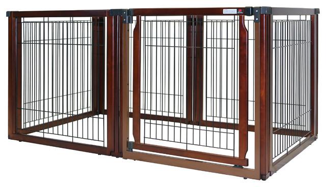 Convertible Elite 6 Panel Pet Gate Contemporary Dog