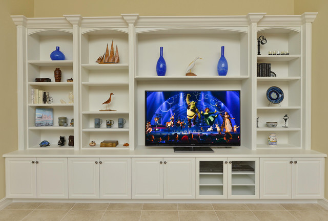 custom built entertainment centers traditional - Built In Entertainment Center Design Ideas