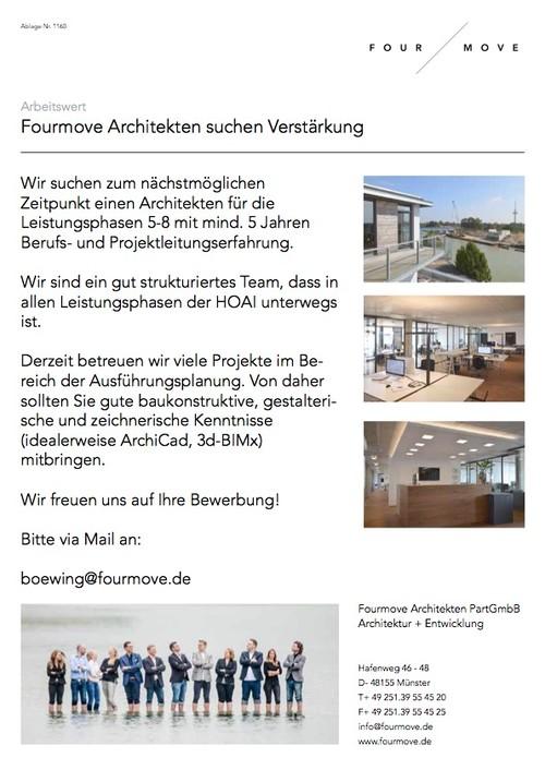 Architekten Suchen wir suchen verstärkung für unser team fourmove architekten