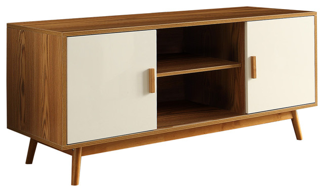 Oslo Tv Stand, Wood Grain/white.