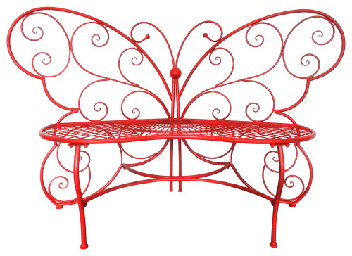 Alpine BAZ400RD Red Butterfly Metal Bench