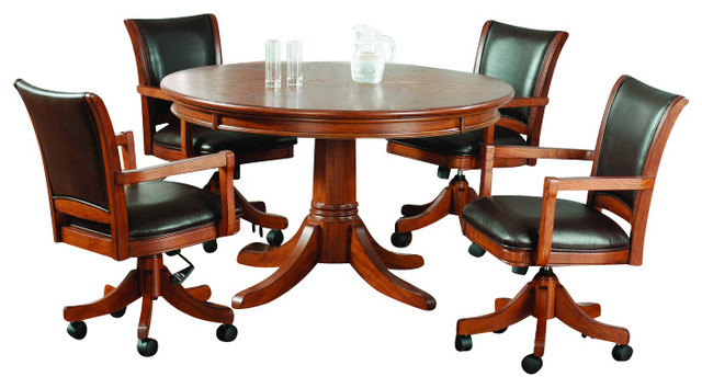 hillsdale park view 5-piece game table set with standard chairs ...