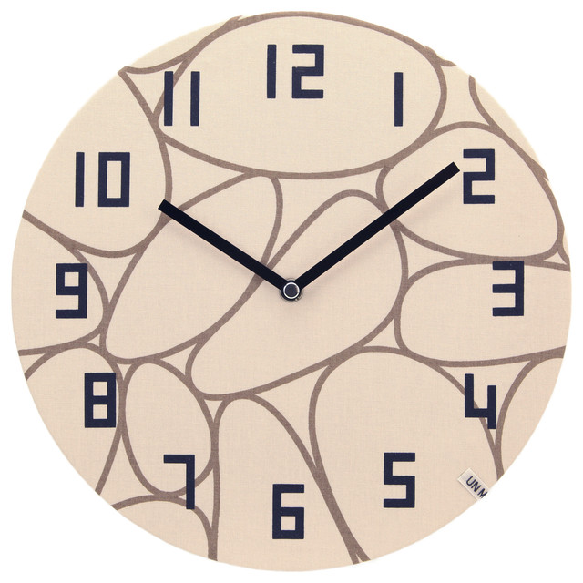 Silent Non Ticking Wall Clock Unminuto Textile Northern Europe