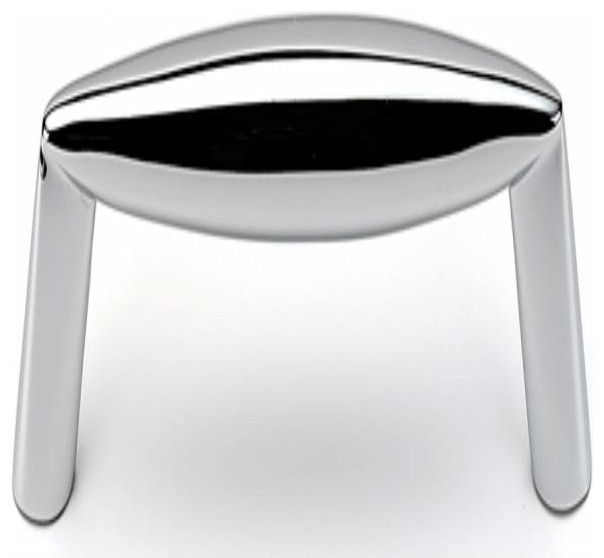 Alno Style Cents 128mm Bridge Cabinet Pull Polished Chrome - Cabinet And Drawer Handle Pulls ...